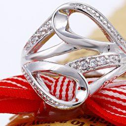 30357 – Rhodium gyűrű