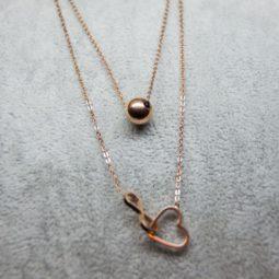 1744 – Rose gold color nyaklánc